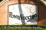 Ponte Vecchio community sign